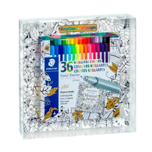 SET STAEDTLR TRIPLUS FINELINER + LIBRO PARA COLOR
